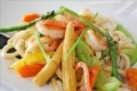 Udon Sautés aux Crevettes